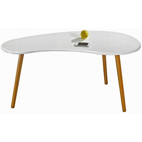 Zdjęcie produktu Skandynawski stolik kawowy Zafira 2X - biały połysk.