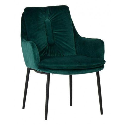 Zdjęcie produktu Welurowy fotel Nodis 3X - zielony.