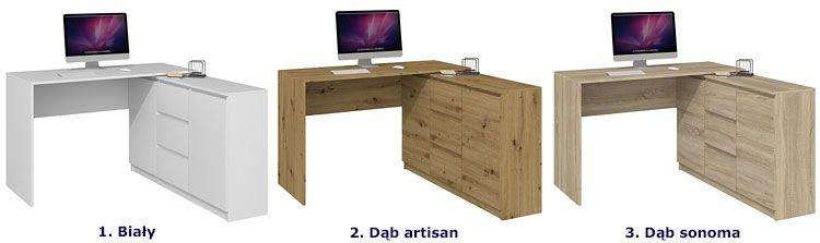 Nowoczesne biurka komputerowe Luvis 4X