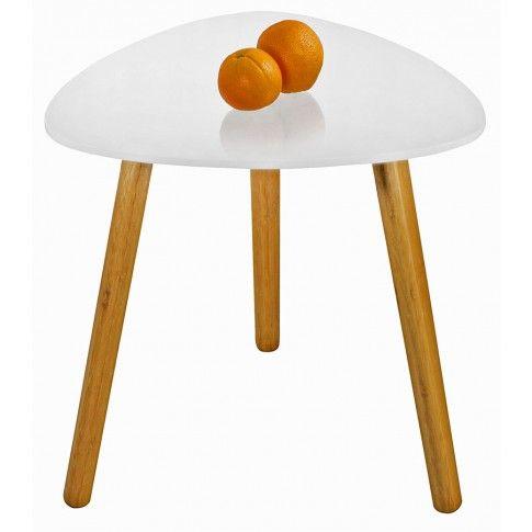 Zdjęcie produktu Skandynawski stolik kawowy Sapira - biały połysk.