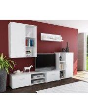 Biały zestaw mebli pod TV Pixelo 7X  w sklepie Edinos.pl