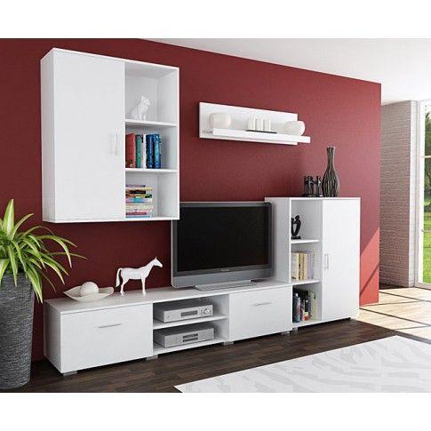 Zdjęcie produktu Biały zestaw mebli pod TV Pixelo 7X .