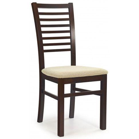 Zdjęcie produktu Krzesło drewniane Gizmo - ciemny orzech.