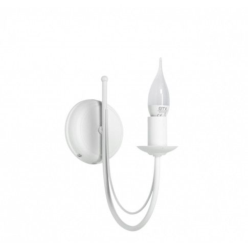 Zdjęcie produktu Kinkiet świecznik E019-Nikozi - biały.