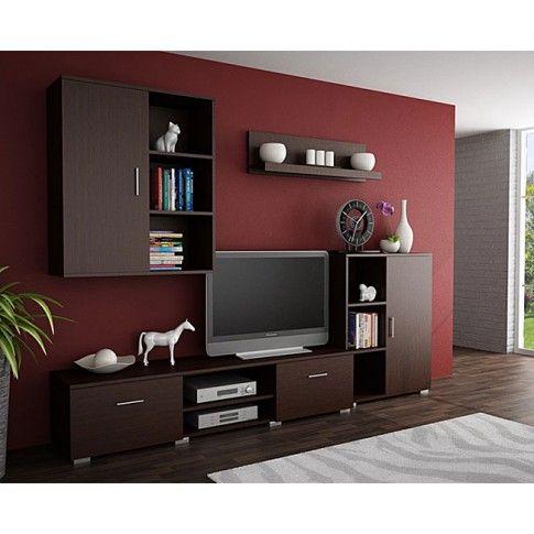 Zdjęcie produktu Komplet mebli pod TV Pixelo 7X - wenge.