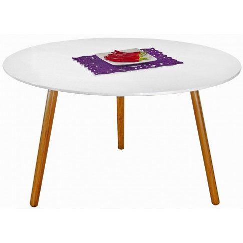 Zdjęcie produktu Skandynawski stolik kawowy Delicta 2X - biały połysk.