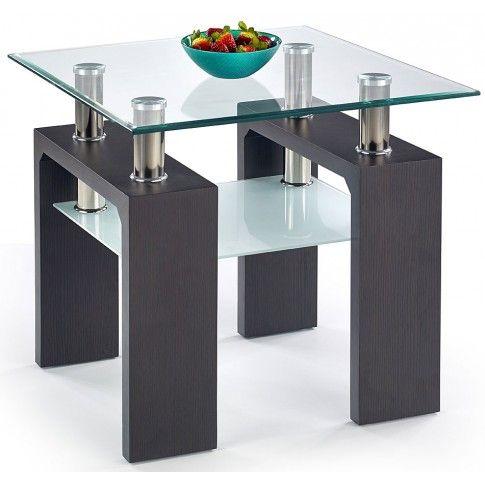 Zdjęcie produktu Kwadratowy stolik kawowy Karis 2X - wenge.