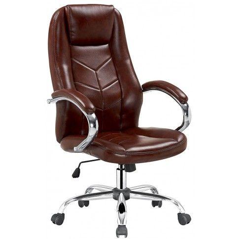 Zdjęcie produktu Fotel obrotowy Waldon - brązowy.
