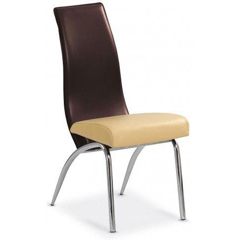 Zdjęcie produktu Krzesło tapicerowane Henry - brązowe.