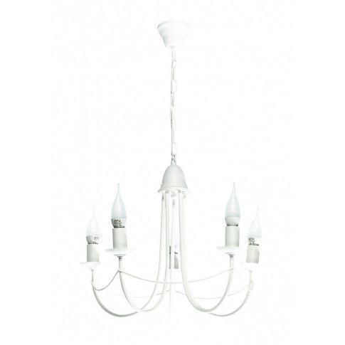 Zdjęcie produktu Żyrandol retro świecznik E226-Nikozi - biały.