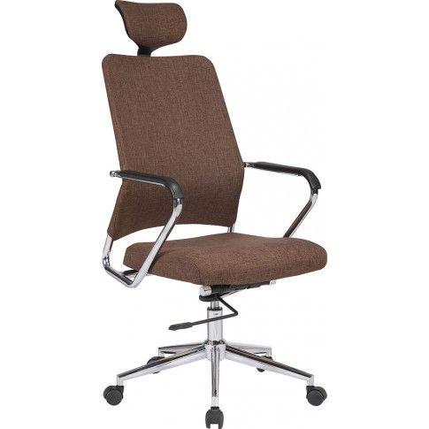 Zdjęcie produktu Fotel obrotowy Stuart - brązowy.