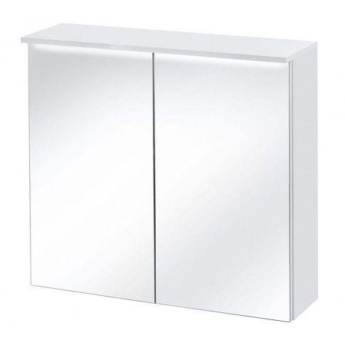 Zdjęcie produktu Podwieszana szafka łazienkowa z lustrem 80 cm Oriana 6X - Biała.