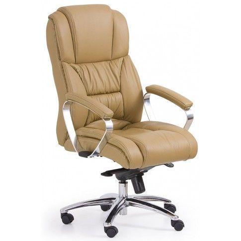 Zdjęcie produktu Skórzany fotel obrotowy Tenar - beżowy.