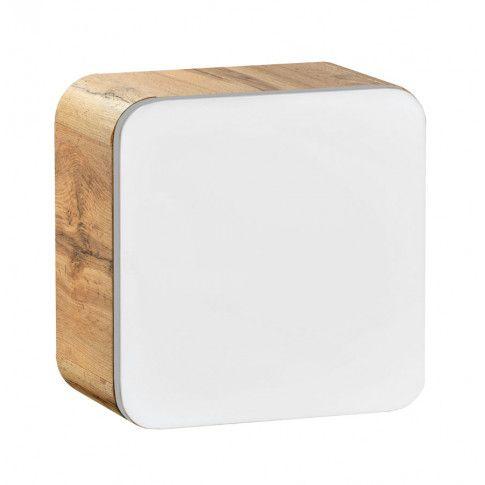 Zdjęcie produktu Wisząca kwadratowa szafka łazienkowa Borneo 2X - dąb craft.