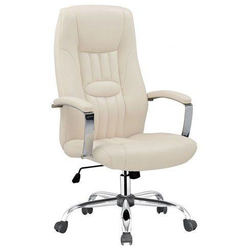 Zdjęcie produktu Fotel obrotowy Rexor - kremowy.