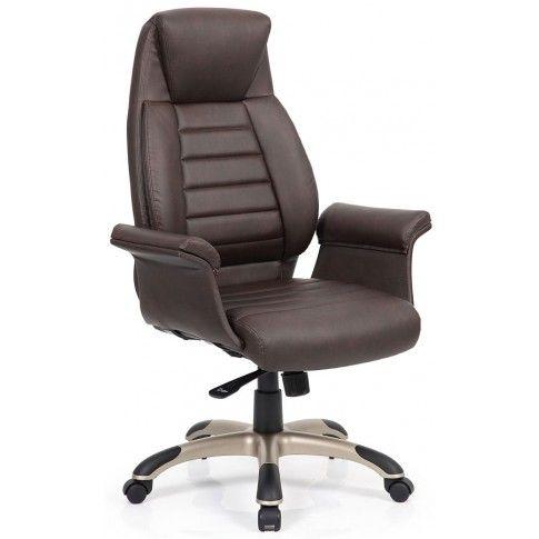 Zdjęcie produktu Fotel obrotowy Danson - ciemny brąz.