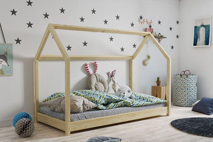Łóżko dla dziecka z drewna sosnowego Olaf