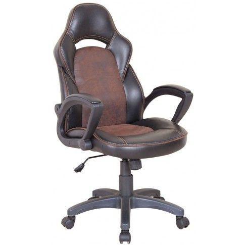 Zdjęcie produktu Fotel obrotowy Morgan - brąz + czarny.