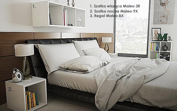 meble do sypialni białe Maleo 4Z