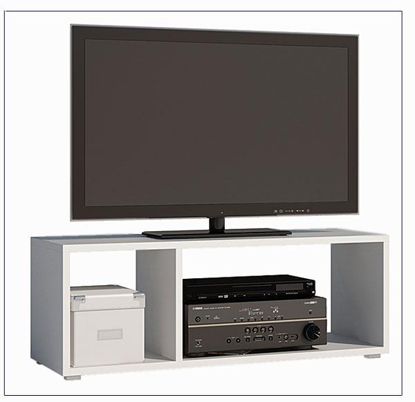 biała szafka na telewizor Maleo