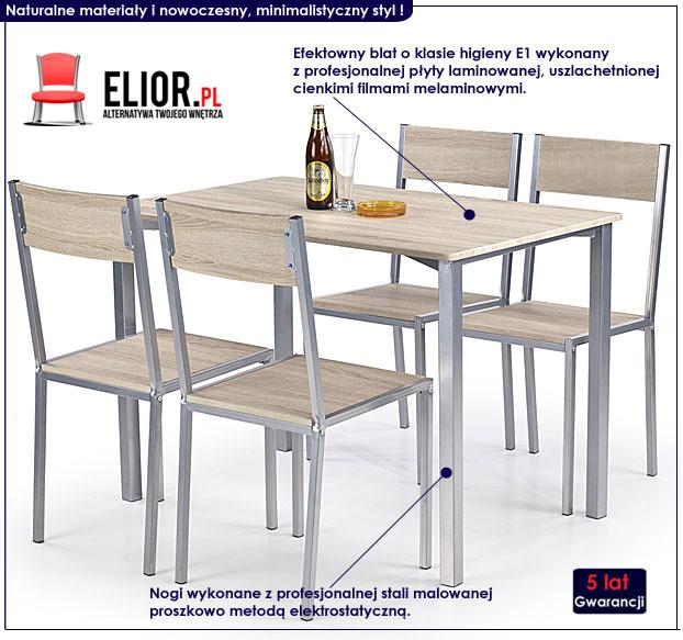 zestaw stół z krzesłami Amares