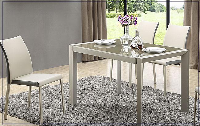 stół szklany beżowy Arafis