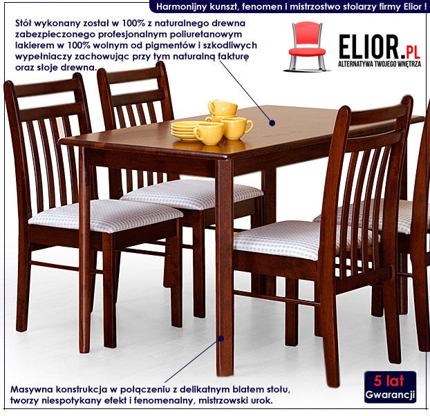 drewniany stół Cezir