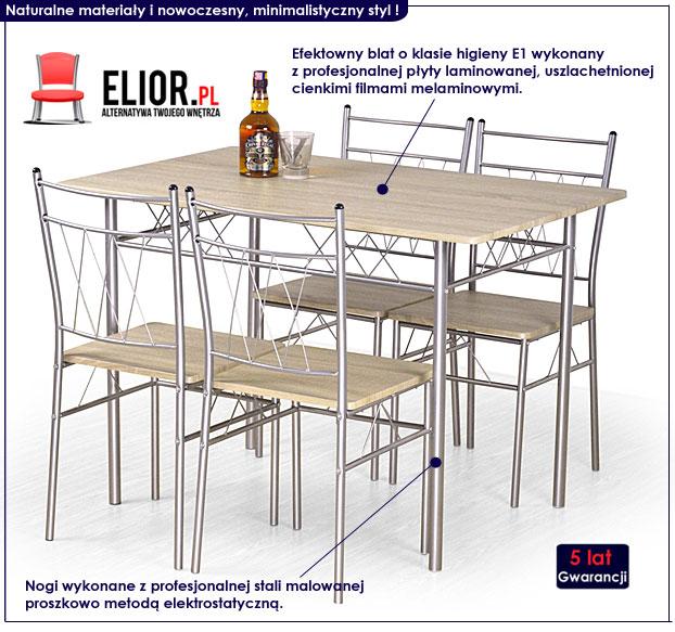 zestaw stół z krzesłami Danter
