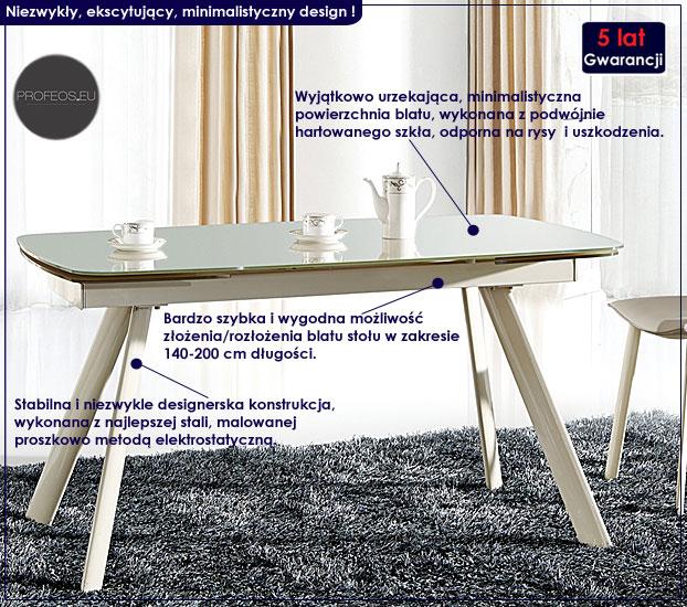 stół rozkładany beżowy Daxer