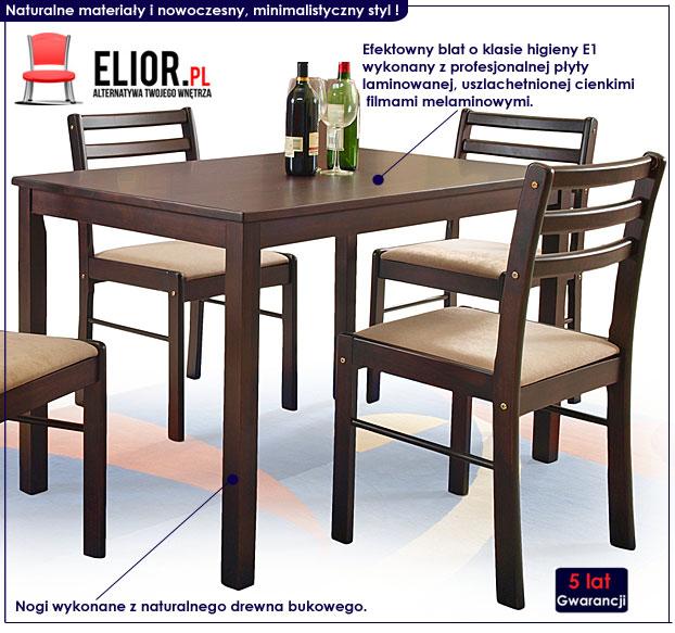 zestaw stół i krzesła Delris