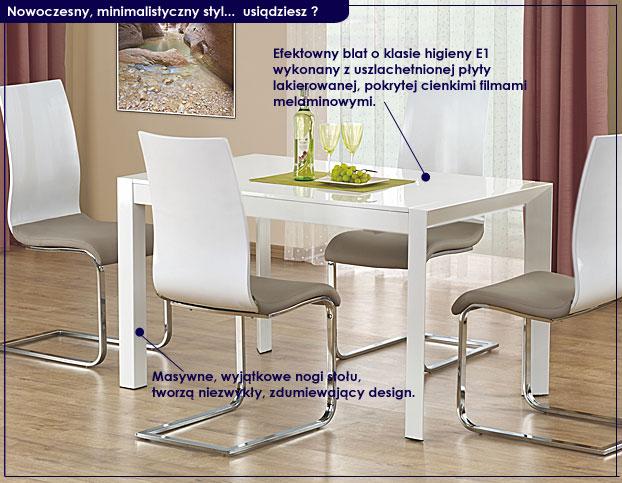 lakierowany rozkładany stół Staner 4X
