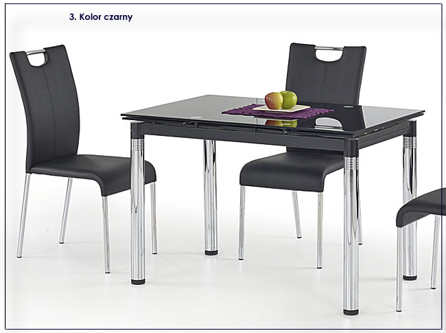 Czarny stół Extrin