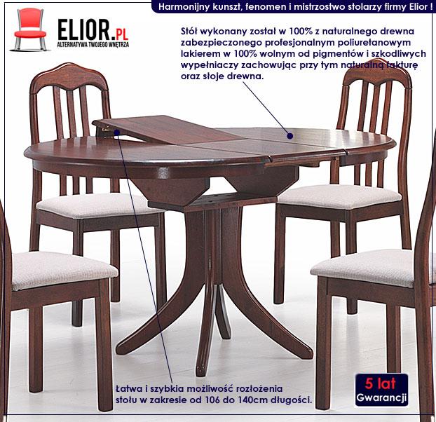 okrągły drewniany stół Lersi