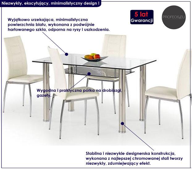 stół szklany Lestir