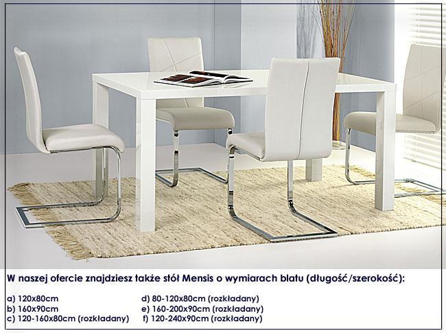 stół lakierowany Mensis