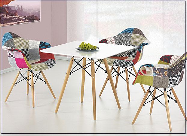 kwadratowy stół Promes X4 biały połysk