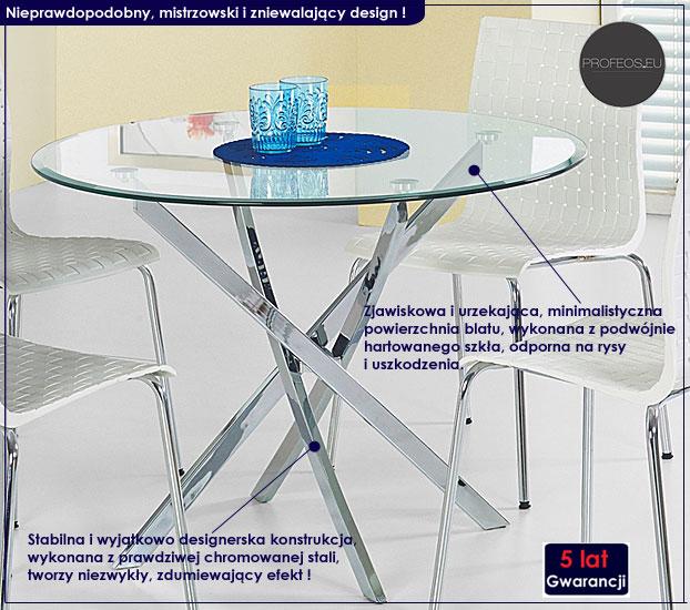szklany stół do salonu Rexel