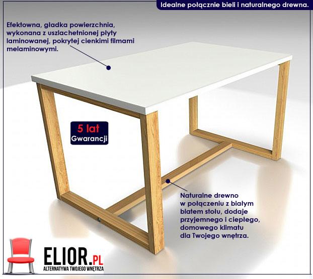 biały prostokątny stolik Inelo L12