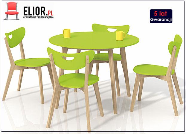 stolik drewniany Inelo S6 limonkowy