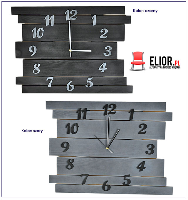 skandynawski zegar ścienny Liptos 6R