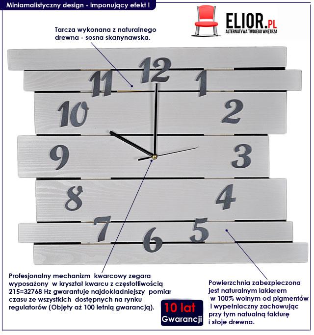 drewniany zegar na ścianę Liptos 6R