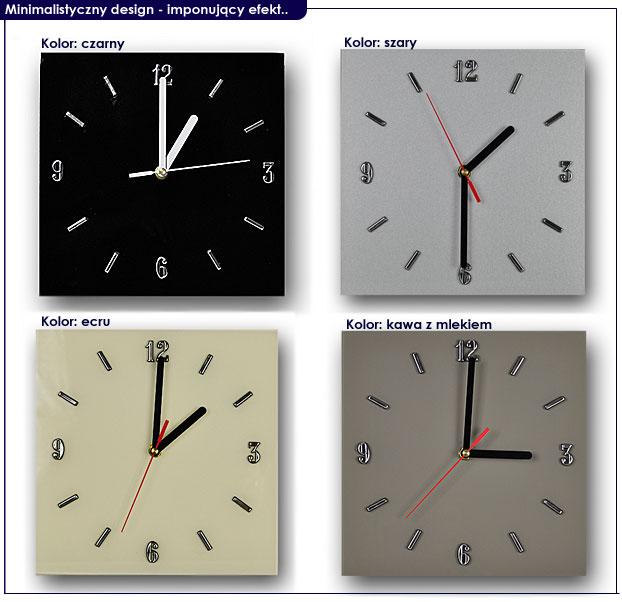 szklany zegar na ścianę Liptos 3R