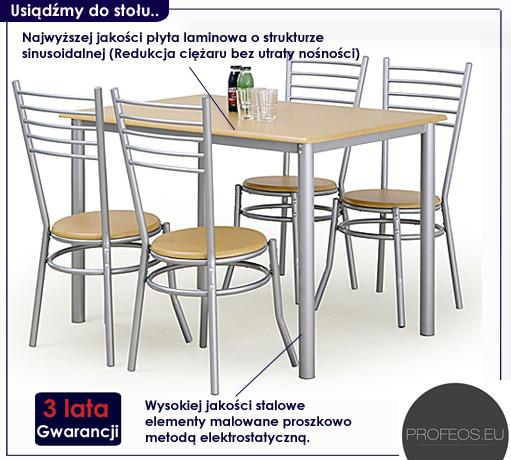zestaw stół i krzesła Tolers